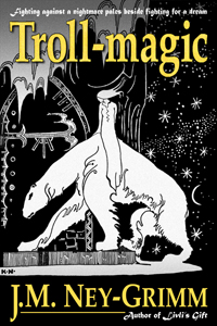 Kay Nielsen art depicting a lassie aback a north-bear