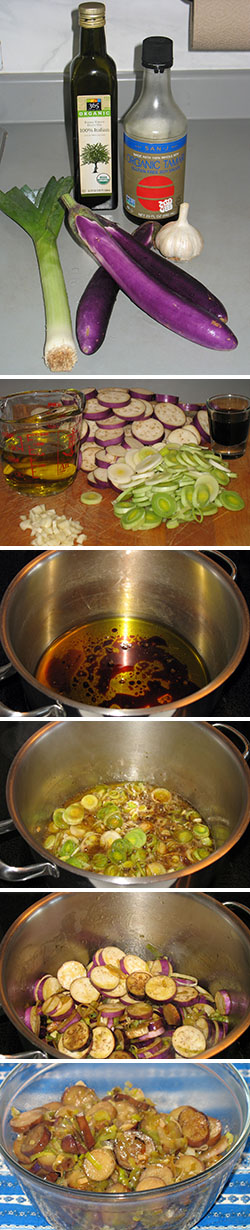 photos of steps in making recipe