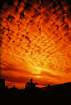 photo of orange clouds