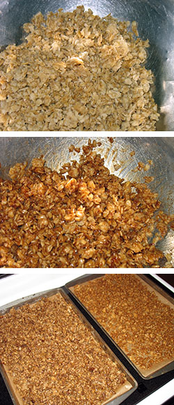 granola in the making