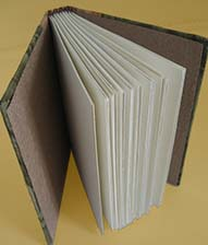 photo of partially open book