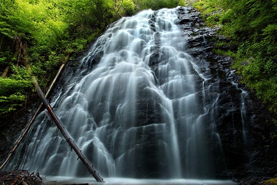 Photo of a waterfall in the Blue Ridge Mountains