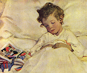 Illustration by Jessie Willcox Smith for A Cild's Garden of Verses