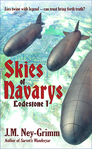 Three airships over landscape, web size image