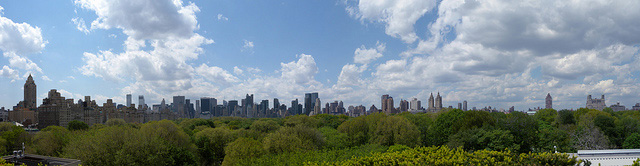 Looking over Central Park