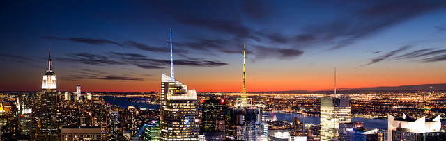 New York Sunset Panorama