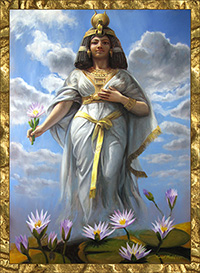 An ancient Egyptian woman in the prime of her youth and glory