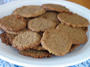 plate of pie crust cookies
