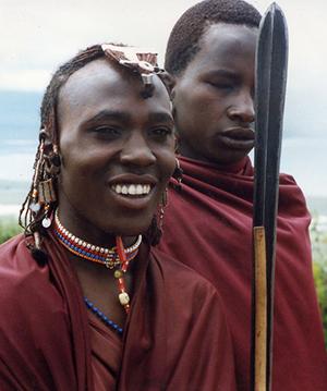 Masai youths Ngorongoro crater, Tanzania.