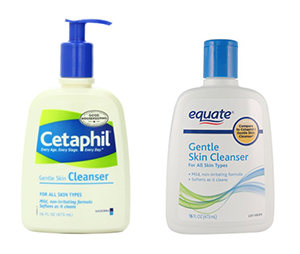 Cetaphil and Equate Gentle Cleanser