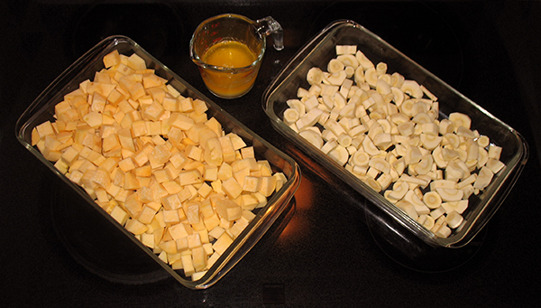 cubed rutabagas and parsnips
