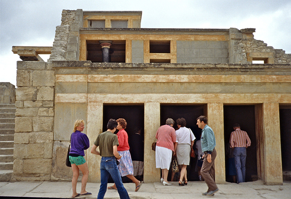 Reconstructed Facade of Knossos