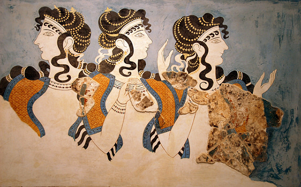 Fresco from the palace of Knossos, ladies of the court