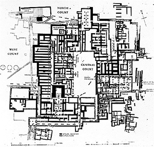 Floorplan of Knossos
