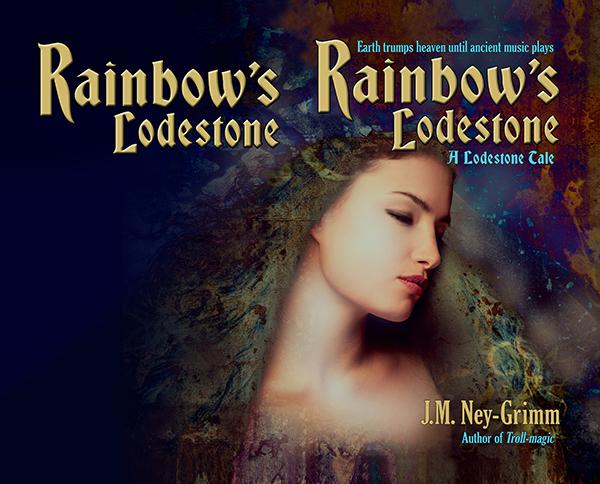Rainbow art with title