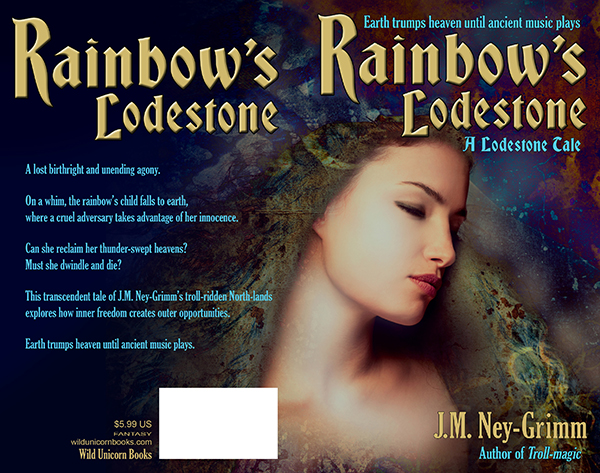 Paperback cover for Rainbow's Lodestone