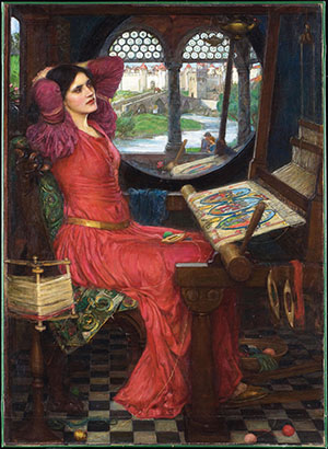"""I am half sick of shadows,"" said the Lady of Shalott by John William Waterhouse"