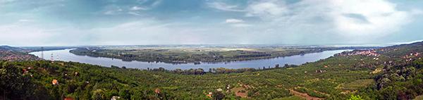 Danube River in Ritopek, Serbia