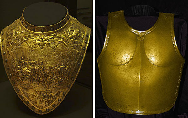 Brass gorget and steel cuirass, 600 pixels