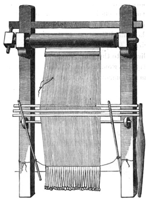 Icelandic warp-weighted loom