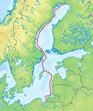 Nerine's voyage on the Baltic Sea