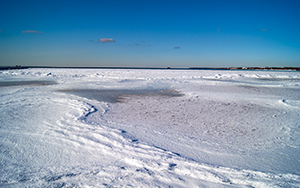 The frozen Baltic Sea