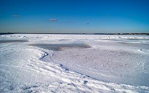 The frozen Baltic Sea