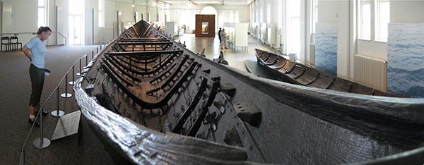 Nydam Mose ship, interior view