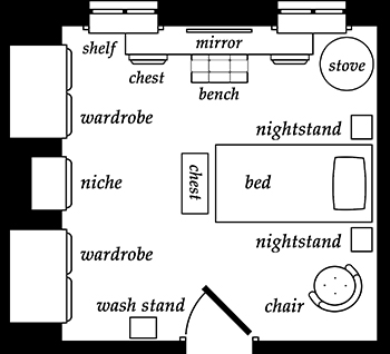 Floorplan of Nerine's Room