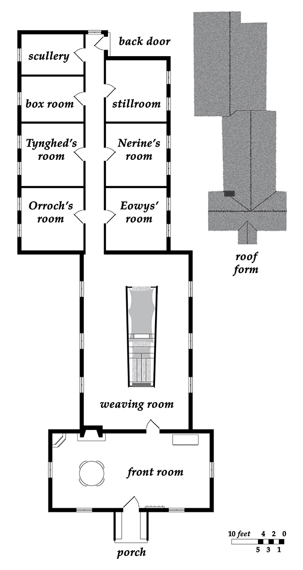 Floorplan of the norns' cottage