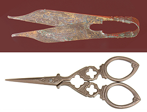 vintage and ancient scissors