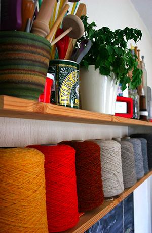 wool on shelf