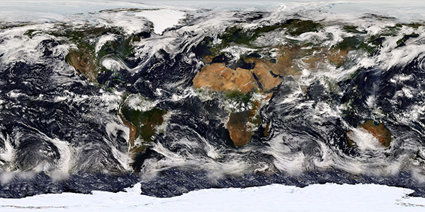 NASA image of the world