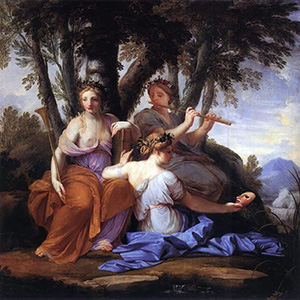 The Muses Clio, Euterpe, and Thalia by Eustache Le Sueur
