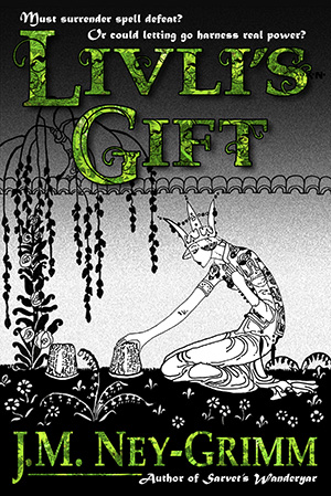 Livli's Gift, lacy green title