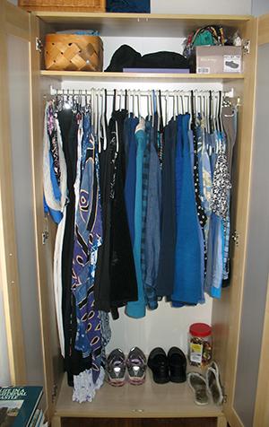 tidy wardrobe