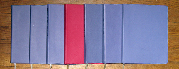 row of journals