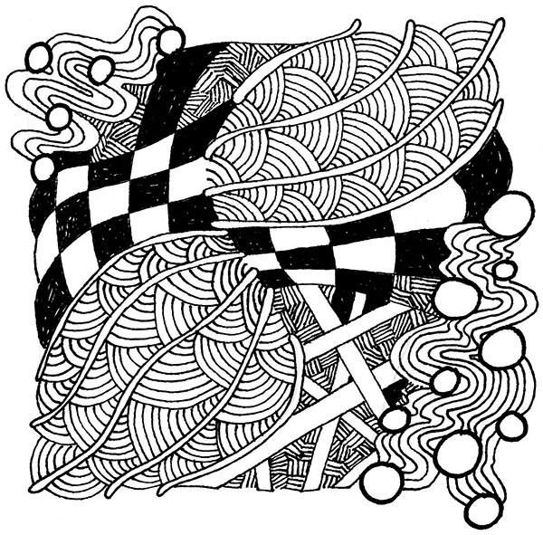 Zentangle, day 4, 600 px