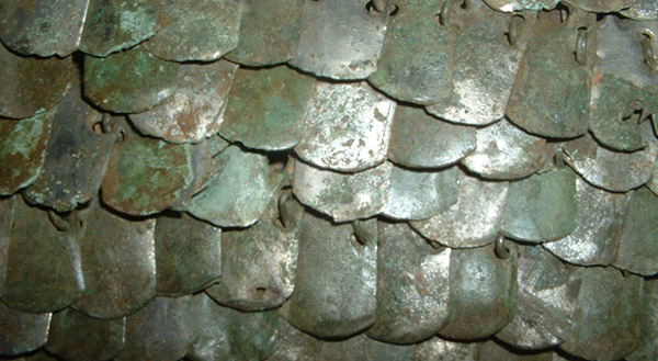 Roman scale armour detail