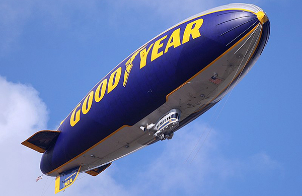 photo of blimp in sky